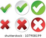 tick and cross. check mark... | Shutterstock .eps vector #107908199
