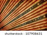grunge stylized american flag | Shutterstock . vector #107908631