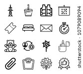set of 16 other outline icons... | Shutterstock .eps vector #1079089094