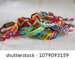 handmade friendship bracelets... | Shutterstock . vector #1079093159