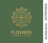 floral logo. flower icon.... | Shutterstock .eps vector #1079093834
