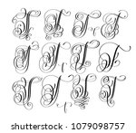 calligraphy lettering script... | Shutterstock . vector #1079098757