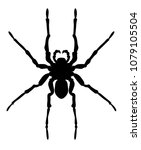 vector illustration of spider... | Shutterstock .eps vector #1079105504