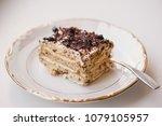 peppermint crisp tart | Shutterstock . vector #1079105957
