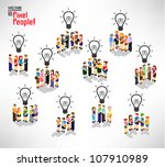 conceptual light bulb with a... | Shutterstock .eps vector #107910989