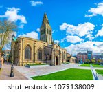 cathedral in leicester  england  | Shutterstock . vector #1079138009