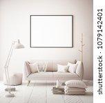 mock up poster frame in hipster ... | Shutterstock . vector #1079142401