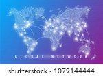 global network  worldwide... | Shutterstock .eps vector #1079144444