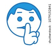 "emoji with man saying ""shhh"" by ... 