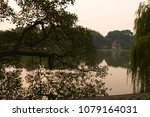 hoan kiem lake also know as... | Shutterstock . vector #1079164031