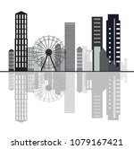 creative city sky line design... | Shutterstock .eps vector #1079167421