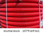 Red Plastic Hoses Background....