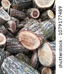 pile of firewood. preparation... | Shutterstock . vector #1079177489
