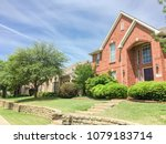single family home with brick... | Shutterstock . vector #1079183714