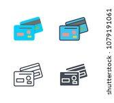 credit card finance bank raster ... | Shutterstock . vector #1079191061