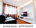 empty living room interior with ... | Shutterstock . vector #1079192429