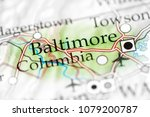 baltimore  maryland  usa on a... | Shutterstock . vector #1079200787