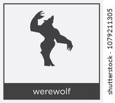 werewolf icon isolated on white ... | Shutterstock .eps vector #1079211305