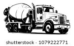 Concrete Mixer Truck. Vector...