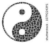 yin yang mosaic icon of... | Shutterstock .eps vector #1079224391