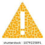 warning composition icon of...