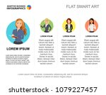 company staff slide template.... | Shutterstock .eps vector #1079227457