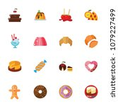 dessert collection. colorful... | Shutterstock .eps vector #1079227499