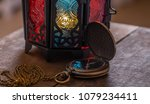 old pocket watch with ramadhan... | Shutterstock . vector #1079234411