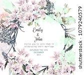 beautiful wedding invitation... | Shutterstock .eps vector #1079240579
