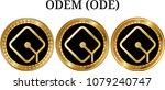set of physical golden coin... | Shutterstock .eps vector #1079240747