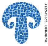 champignon mushroom mosaic icon ... | Shutterstock .eps vector #1079242955