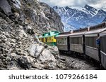 scenic train from skagway to... | Shutterstock . vector #1079266184