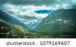 beautiful rocky mountains in... | Shutterstock . vector #1079269607