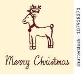 merry christmas  sketch vector... | Shutterstock .eps vector #107928371