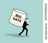 big data concept | Shutterstock .eps vector #1079299025