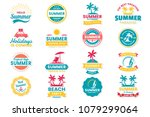 summer retro vector logo for... | Shutterstock .eps vector #1079299064