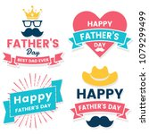 father day birthday vector logo ... | Shutterstock .eps vector #1079299499