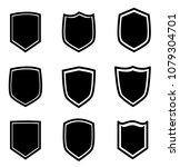 shield icon set on white...   Shutterstock .eps vector #1079304701