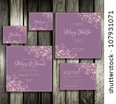 wedding card or invitation with ... | Shutterstock .eps vector #107931071