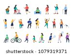 people in various lifestyles ... | Shutterstock .eps vector #1079319371