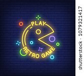 play retro game lettering with... | Shutterstock .eps vector #1079321417