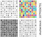 100 musical education icons set ... | Shutterstock .eps vector #1079326751