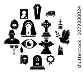 funeral ritual service icons... | Shutterstock .eps vector #1079330024