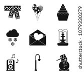 hard frost icons set. simple... | Shutterstock .eps vector #1079330279