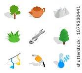 winter crops icons set.... | Shutterstock .eps vector #1079330441