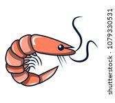 shrimp icon. cartoon...   Shutterstock .eps vector #1079330531