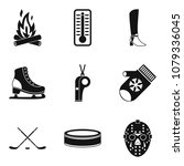 frost icons set. simple set of... | Shutterstock .eps vector #1079336045