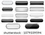 white and black glass 3d... | Shutterstock .eps vector #1079339594