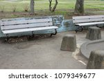 a bench in the park | Shutterstock . vector #1079349677