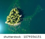 island paradise from above... | Shutterstock . vector #1079356151
